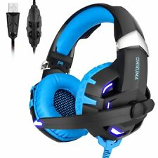 K2B 7.1 Surround Gaming Headset MIC LED Kopfhörer für PC Mac Laptop PS4 slim