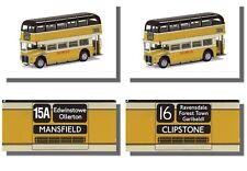 Routemaster, ( East Midland ) X2  Clipstone, Mansfield,  Corgi 1/76