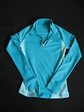 REEBOK WOMENS PLAY DRY TURQUOISE ZIPPER ATHLETIC TOP - S