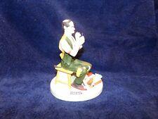 Norman Rockwell Porcelain Figurine, The Danbury Mint, Man Threading Needle 1980