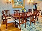 Beautiful Chippendale Dining Room Style Table-2 leafs-8 chairs, Beautiful Wood