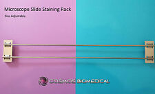 Microscope Slide Staining Rack - Adjustable & 100% Metal Construction