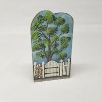 "Brandywine Woodcrafts 1996 ""Tree and Gate"" Collectible Shelf Sitter"