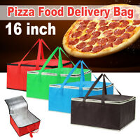 16 inch Pizza Delivery Bag Insulated Thermal Food Storage Holder Outdoor