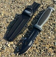 """9.25"""" Tactical Survival HUNTING KNIFE Military Combat Camping Fixed Blade Grey"""