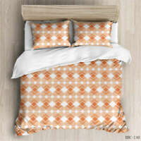 Yellow Polka-Dot 3D Quilt Duvet Doona Cover Set Single Double Queen King Print