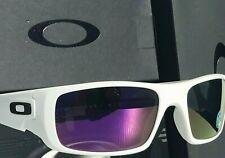 NEW* Oakley Crankshaft WHITE POLARIZED Galaxy Violet Iridium Sunglass 9239