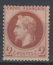 """FRANCE STAMP TIMBRE N° 26 """" NAPOLEON III 2c ROUGE-BRUN """" NEUF xx TB P126"""