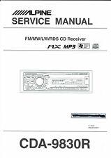 Alpine  Service Manual  für CDA- 9830 R englisch