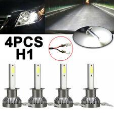 4x H1 LED Headlight High Low Beam Kit Fog Driving Bulbs 6000K Super Bright White