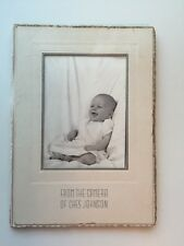 Vintage Baby Photograph-Ches Johnson Studio Cabinet Picture