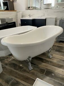Frontline Norton 1570mm X 765mm Stone Resin Bath Slipper Bath Rrp £2000