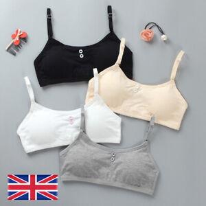 Young Girls Cotton Bra Puberty Teenage Breathable Underwear Sport Training Bra L