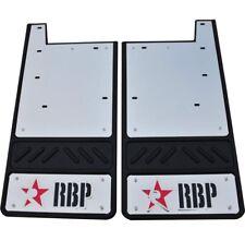 "RBP 757023-SS 12.5"" Heavy Duty Mud Flaps Red/Black 2007-2011 GMC"