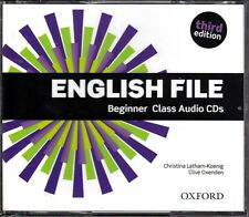 Oxford ENGLISH FILE THIRD EDITION Beginner Class Audio CD's @BRAND NEW Sealed@