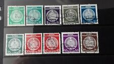 Ddr 1954 official stamps center type B fu