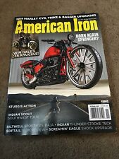 American Iron  magazine  # 368  2018  , 2019 HARLEY  CVO,Truike & Bagger