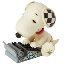 Jim Shore Peanuts Snoopy Typing Mini Figurine 6001298