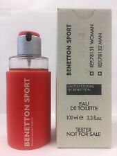 Benetton Sport by Benetton 3.3 oz  EDT Women's perfume  new tester