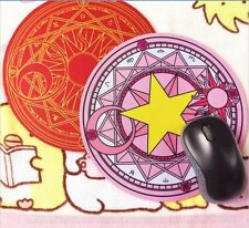 2x Anime Card Captor Sakura Kinomoto the Clow Figure Cosplay Magic Mouse Pad New