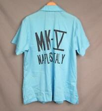 Vintage 1960s King Louie Womens Bowling Team Shirt Sky Blue Mk-V Naples Italy