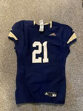 Adidas # 21 college football jersey navy blue and khaki