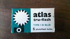 Atlas tru-flash Type 1 B Blue photoflash bulbs - 5 per box NOS