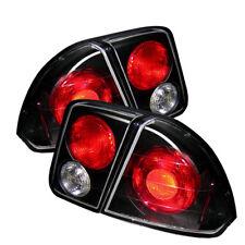 Fit Honda 01-05 Civic 4dr Black Euro Style Rear Tail Lights Brake Lamp Set Sedan