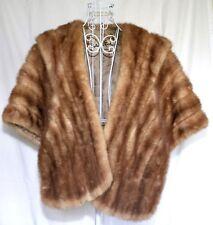 Vintage Schiller Furs Chicago Red Fox Shoulder Wrap Wedding Prom Banquette Forma