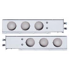"Spring Loaded Rear Light Bar w/ 4"" Round Cutouts - 2 1/2"" Bolt Pattern"