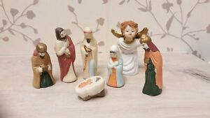 Salco Ceramic - small ceramic nativity christmas set