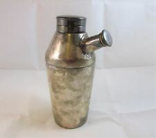 Elkington and Co Cocktail Shaker c. 1935 Unpolished Silver England Shaker E & Co