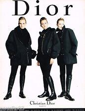 PUBLICITE ADVERTISING 065  1996  DIOR  haute couture veste blouson bottes