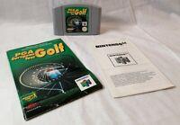 PGA European Tour Golf N64 Cartridge & instruction Booklet - Nintendo 64