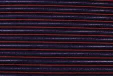 Denim nero a righe blu con lurex argento STOFFA AL METRO TESSUTO A METRAGGIO