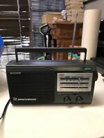 Vintage Sony ICF-34 Portable Radio 4 Band AM/FM/Weather/TV Tested & Working