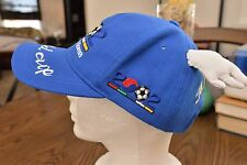 RARE 2002 World Cup Korea Embroidered Blue Baseball Hat Cap with Wings!