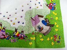 Vintage Germany Easter Bunnies Eggs Tablelcoth