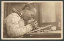 1931 PPC* CHINESE WOODCARVER PHOTO TYPE POSTED
