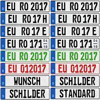 2 Stück EU KFZ Nummernschilder Autoschilder Kennzeichen  ALLE  AUTOMARKEN