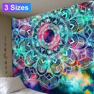 Mandala Printed Wall Hanging Tapestry Bedspread Decor Blanket Carpet Polyester