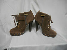 VS Colin Stuart brown suede high heel bootie 7