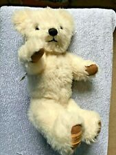 "Vintage Merrythought Fully Jointed Plush Cream colour Teddy Bear 14"" tall  VGC"