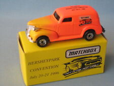 Matchbox 1939 Chevy Van Hershey 1996 Convention Toy Model Car Yellow Boxed 70mm