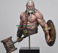 Unpainted 1/10 Ancient Man Warrior With Beard Bust Resin figure Miniature model