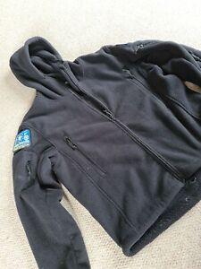 Mens Kombat Uk Black Fleece Jacket Hooded Size Xl Full Zip Long Sleeve