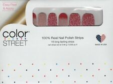 COLOR STREET Nail Strips Rose All Day 100% Nail Polish Strips - USA Made!