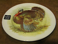 """THE VICTORIAN ENGLISH POTTERY ROYAL STAFFORD TURKEY 12.5"""" SERVING PLATTER, NEW"""