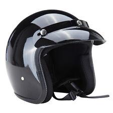 M L XL Größe 3/4 Helm Motorradhelm Rollerhelm Chopper Sturzhelm Helle schwarz