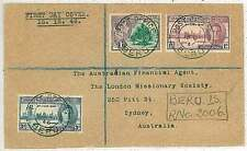 Gilbert & Ellice Is -   FDC COVER to AUSTRALIA - 1946 Victory Peace Issue